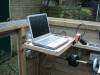 Laptop on home-made swivel